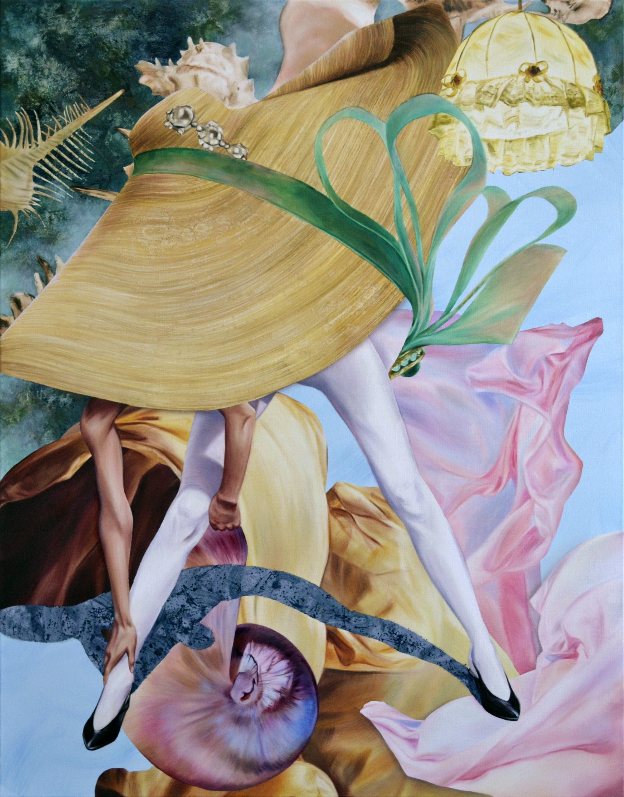 Martyna Borowiecka. Summer's remains. 140 x 110 cm. 2019.